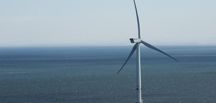 A Dong Energy turbine off Denmark. Dong Energy photo.