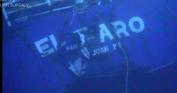 The El Faro wreck. NTSB photo