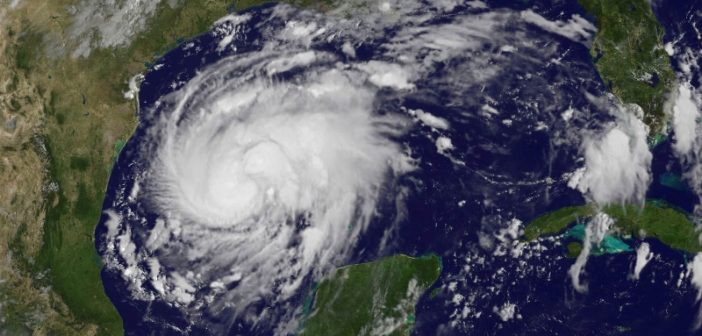 Hurricane Harvey satellite image, Aug. 24, 2017. NOAA image.