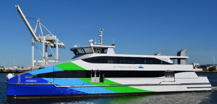 The San Francisco Bay ferry Hydrus. Incat Crowther photo.