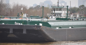 Tank barge deliveries through June are way down this year. Photo by David Krapf