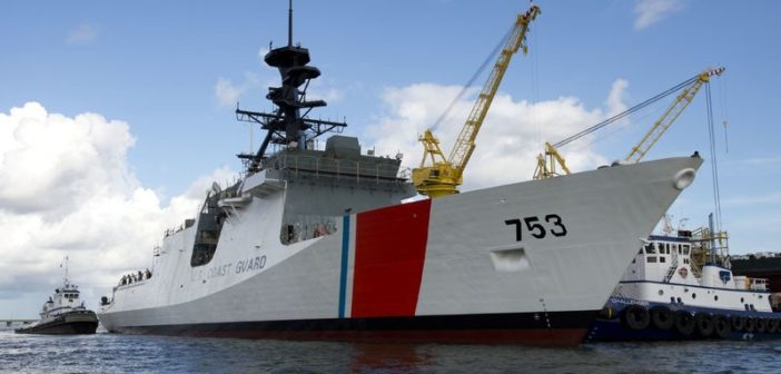 The Coast Guard National Security Cutter contract was first awarded and construction began at Ingalls Shipbuilding in 2004. Photo courtesy of Huntington Ingalls