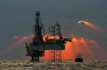 A jackup in the U.S. Gulf. Photo courtesy of BOEM