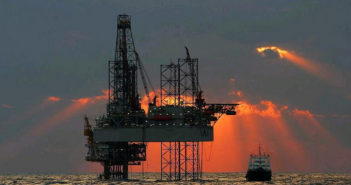 A jackup in the U.S. Gulf. Photo courtesy of BOEM