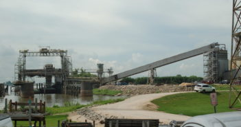 Cargill's export grain elevator on the Mississippi River near New Orleans. Ken Hocke photo
