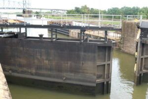 The lock is the oldest high-use lock in the U.S., according to the Corps of Engineers. Ken Hocke photo