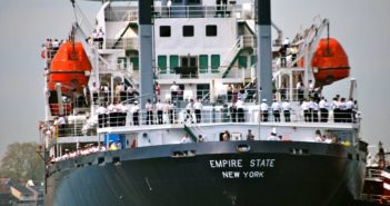 The training ship Empire State VI. SUNY Maritime photo.