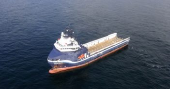 Gulfmark Offshore's PSV Highland Chieftain was used in a test of remote ship control in the North Sea Aug. 21. Photo courtesy Wärtsilä