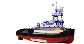 Entech Designs designed the tugs that will be built at Conrad's Morgan City shipyard for Harley Marine. Entech Designs rendering