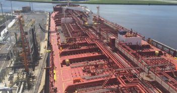 Crowley Maritime is rushing tankers filled with gasoline and diesel to Florida. Crowley Maritime photo