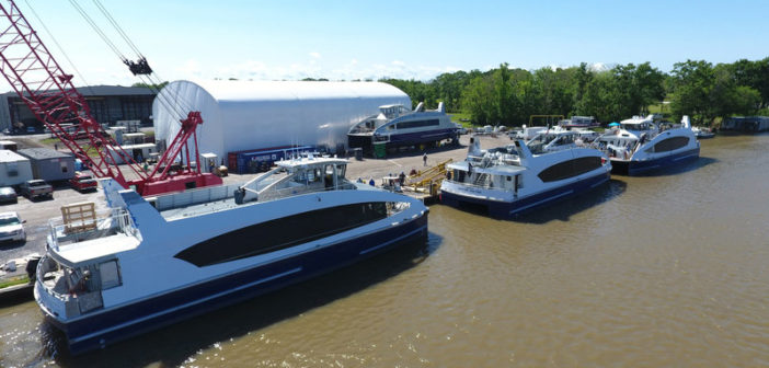 Metal Shark has been awarded contracts to build four new 97' ferries for New York. Metal Shark photo