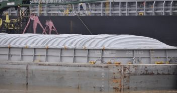 For the week ending Dec. 9, barge grain movements totaled 811,802 tons, 14% higher than the previous week and down 23% from the same period last year. Photo by David Krapf