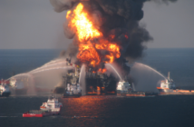 The Deepwater Horizon on April 21, 2010. U.S. Coast Guard photo