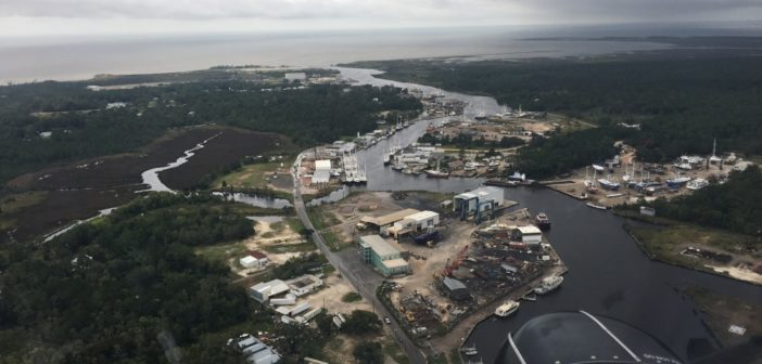 The Coast Guard began reopening northern Gulf of Mexico ports after overflights and evaluations showed little damage from Hurricane Nate. Coast Guard photo.