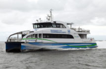 Incat Crowther designed this new aluminum catamaran ferry for Massachusetts Bay Transit Authority. Incat Crowther photo