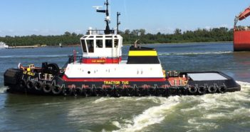 New 100' tractor tug for Bisso Towboat will work the Mississippi River. Bisso Towboat photo