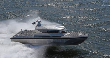 Metal Shark's 40 PBX prototype shown here running 25 miles off the coast of Louisiana. Metal Shark photo