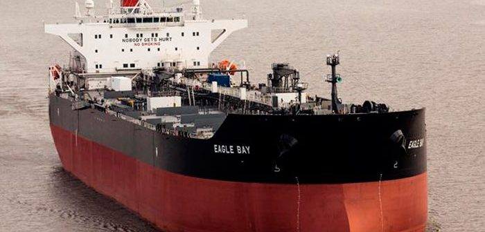 The SeaRiver Maritime tanker Eagle Bay. Exxon Mobil photo.