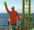 Scarecrows for use on offshore wind platforms. GlobalTech photo