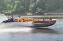 An Inlander river utility boat. Elastec photo.