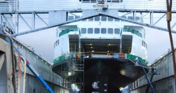The Washington State Ferry Kaleetan at Vigor Industrial in Seattle in November 2016. Kirk Moore photo.