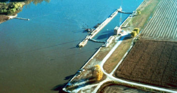 The LaGrange Lock and Dam. Corps of Engineers photo.