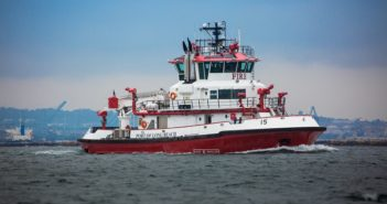 The new fireboat Vigilance at the Port of Long Beach, Calif. Port of Long Beach photo.