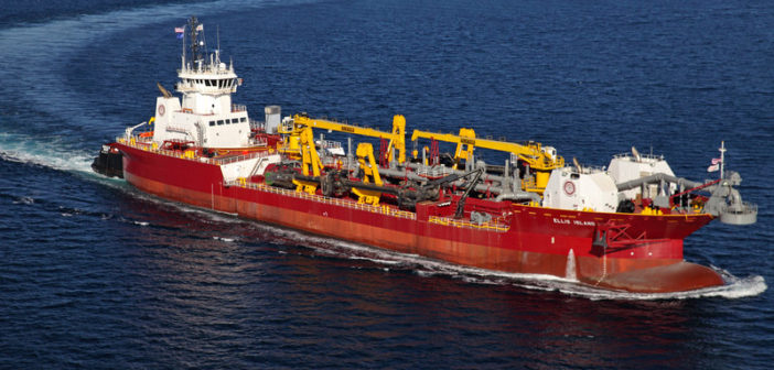 Great Lakes Dredge & Dock's new trailing suction hopper barge ATB. Great Lakes Dredge & Dock photo