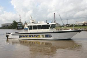Security vessel for Calcasieu Parish Sheriff's Office. Geo Shipyard photo