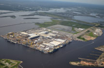 """In 2014 Ingalls Shipbuilding kicked off its """"Shipyard of the Future"""" initiative. Ingalls Shipbuilding photo"""