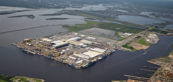 "In 2014 Ingalls Shipbuilding kicked off its ""Shipyard of the Future"" initiative. Ingalls Shipbuilding photo"