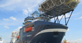 Harvey Gulf recently took delivery of the Harvey Blue-Sea, sister vessel to the Harvey Sub-Sea (shown here). Max Hardberger photo