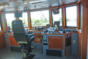 The Daisy Mae's pilothouse. Rodriguez Shipbuilding photo.