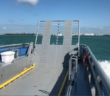 The 60'x18' barge provides access to the exclusive Sunset Key Resort located on a small island near Key West, Fla. Horizon Shipbuilding photo