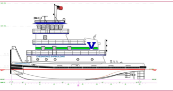 Chesapeake Shipbuilding and Vane Brothers have signed a new four tug deal. Chesapeake Shipbuilding rendering