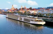 The Viking river cruise vessel Aegir in Europe. Viking River Cruises photo.