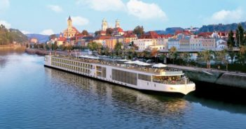 The Viking river cruise vessel Aegir in Europe. Viking River Cruises photo.