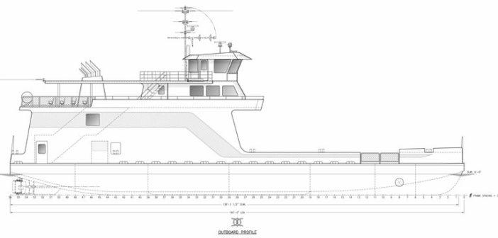 Elliott Bay Design Group will be designing a new passenger/vehicle ferry for Miller Boat Line. EBDG rendering