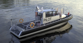 Metal Shark is currently building a 45' Defiant pilot boat for the Virgin Islands Port Authority. Metal Shark photo