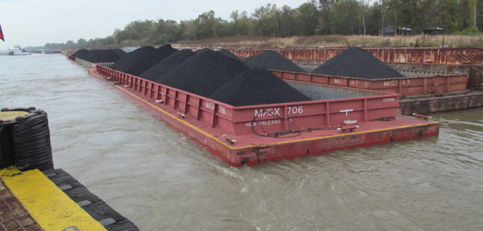 MG specializes in inland barge transportation, carrying more than 5 million tons of non-hazardous dry bulk cargo such as petroleum coke each year. MG Transport Services photo