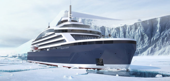 Luxury polar expedition cruise vessel being built for a French owner. Fincantieri photo