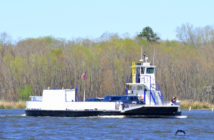 The Gee's Bend ferry on the Alabama River. Alabama DOT photo/Ethan Van Sice