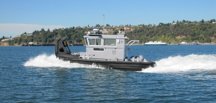 "Seattle-based naval architect firm Hockema & Whalen and Associates has developed a 30'x15' tug, with a 5'6""-foot draft. Cummins Marine photo"