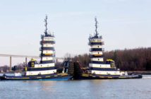 Dann Marine tugs designed by Frank Basile and built at Main Iron Works. Kathy Bergren Smith photo