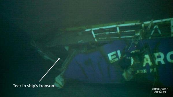 The El Faro went down on Oct. 1, 2015. NTSB photo
