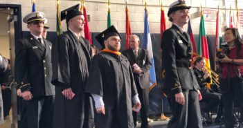 SUNY Maritime graduated 151 students Jan. 26 in its largest winter commencement ever. SUNY Maritime photo.