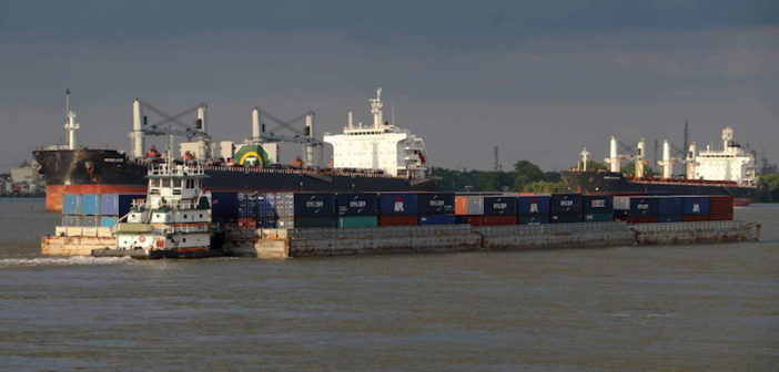 Over the years, the federal government has helped fund and promote container-on-barge services. But for the private sector, it has been a loser. Photo credit Seacor AMH