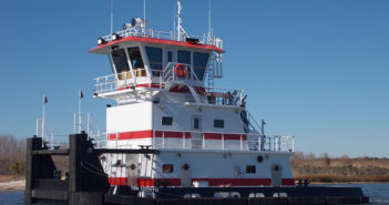 Second of four new 67'x28 towboats for Waterfront Services from Master Marine. Master Marine photo