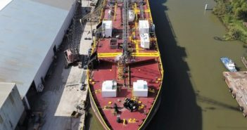 The new barge will be mated with the new ATB tug built at Conrad Orange. Conrad Industries photo