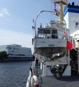 U.S. customers who are successfully operating the company's most advanced davits in up to sea state 7. Vestdavit photo